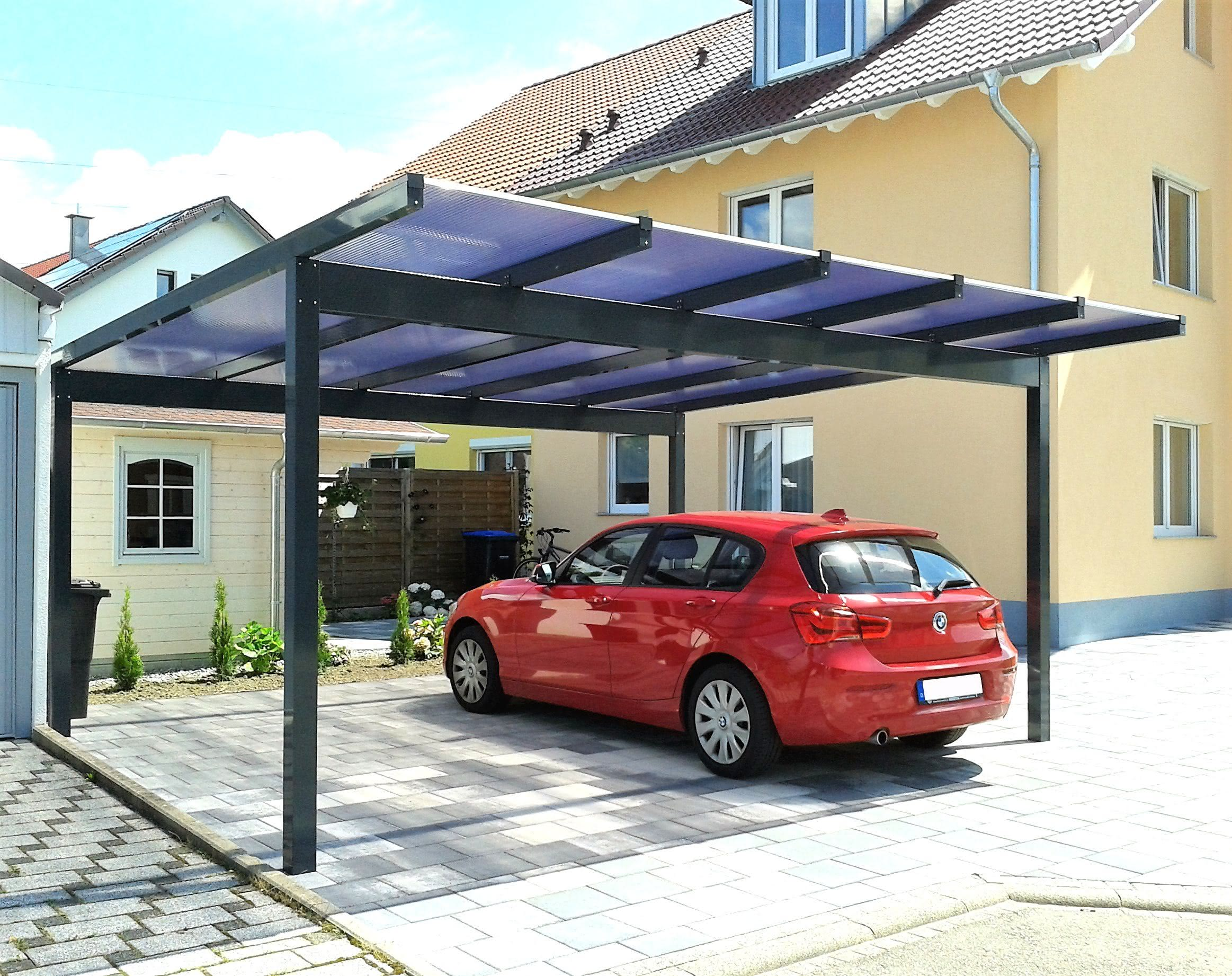 duroport aluminium flachdach carports made in germany. Black Bedroom Furniture Sets. Home Design Ideas