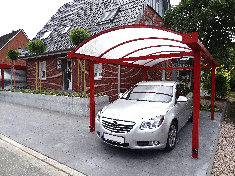 Einzelcarport aus Aluminium mit Abstellraum | Alucarport Typ N mit ...