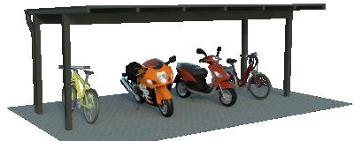 Duroport Typ D Fahrradunterstand