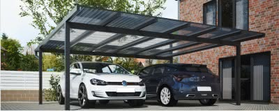 carport alu bersicht aller carports f r zwei pkw. Black Bedroom Furniture Sets. Home Design Ideas
