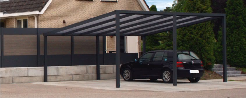 pultdachcarports aus aluminium. Black Bedroom Furniture Sets. Home Design Ideas