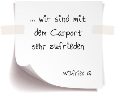 Wilfried G. Referenz Alucarports