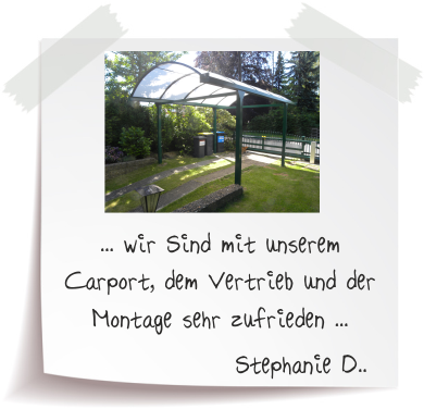 Stephanie D. Referenz Alucarports